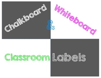 Chalkboard and Whiteboard Labels