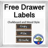 Chalkboard and Wood Rustic Drawer Labels  FREE
