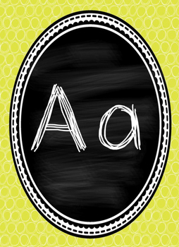 Chalkboard and Yellow Alphabet Posters