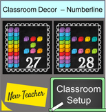 Chalkboard and Brights Numberline 0 -30