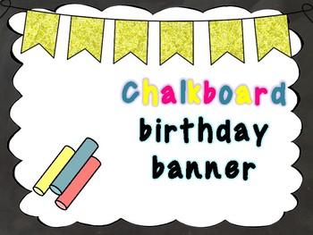 Chalkboard birthday banner