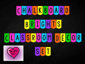 Chalkboard bright decor set