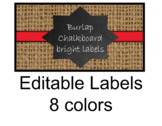 Chalkboard and Brights Rectangle  labels - Editable