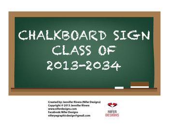 Chalkboard: class of 2013-2034