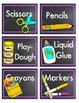 Chalkboard classroom Supply Labels