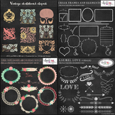 Chalkboard clipart bundle 76 graphics