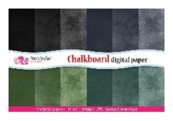Chalkboard Digital Paper Worksheets Teaching Resources Tpt