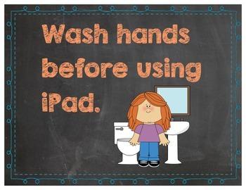 Chalkboard iPad Rules