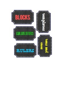 Chalkboard label tags