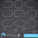 Chalkboard labels 02 clipart commercial use, vector graphics, digital - CL687