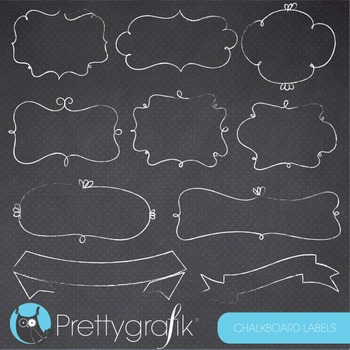 Chalkboard labels clipart commercial use, vector graphics,