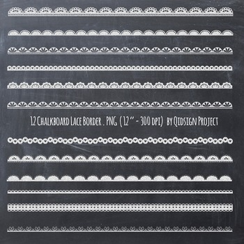 Chalkboard lace border clipart, chalkboard border, lace border