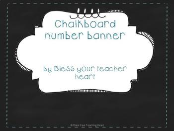 Chalkboard number banner