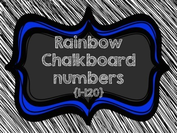 Chalkboard {number chart 1-120}