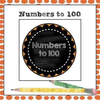 Chalkboard numbers from 0-100