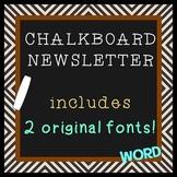 CHALKBOARD Theme plus TWO FREE FONTS Bonus - Newsletter Te