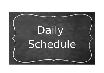Chalkboard theme daily schedule