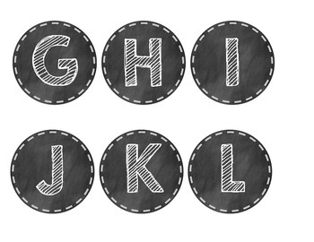 Chalkboard-themed Alphabet
