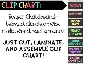 Chalkboard-themed Behavior Clip Chart