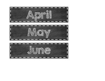 Chalkboard-themed Birthday Labels
