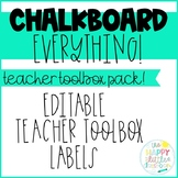 Chalkboard-themed Teacher Toolbox Labels! Editable!