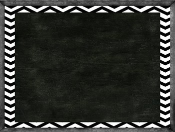 Chalkboard PowerPoint Template with Black and White Chevron Background