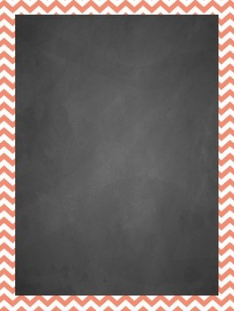 Chalkboard with Chevron Frames