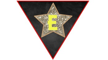 Chalkboard with glitter stars Welcome To insert grade level banner