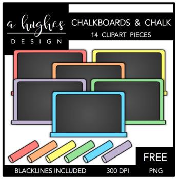 FREE Chalkboards & Chalk Clipart {A Hughes Design}