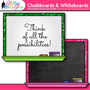 Chalkboards & Whiteboards Clip Art {Great for Back to School Resources}