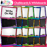 Chalkboards & Whiteboards Clip Art: School Supply Graphics {Glitter Meets Glue}