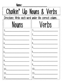 Chalkin' Up Nouns & Verbs
