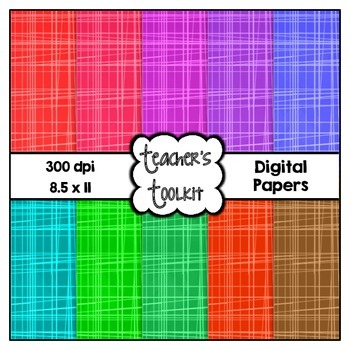 Chalklines Digital Papers {8.5 x 11} Clip Art CU OK