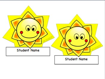 Back to School Desk Tags Set: Sunsational Fifth Graders