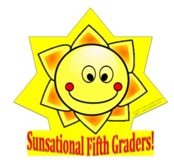 Back to School Desk Tags Set: Sunsational Fifth Graders