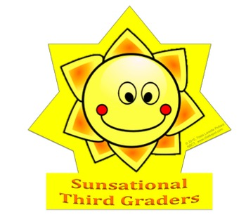 Back to School Desk Tags Set: Sunsational Third Graders
