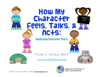 Character Traits Reading Journal (CCSS Aligned)