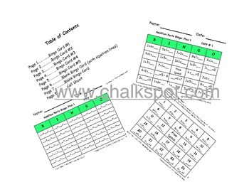 Addition Bingo, Plus 1: MAC (CCSS Aligned)