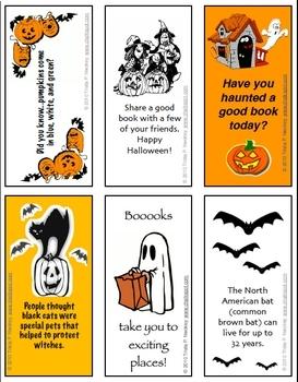 halloween bookmarks grades 4 6 - Halloween Book Marks