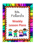 Editable Lesson Plan Template: Portrait