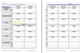 Editable Lesson Plan Template: Portrait