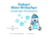 Winter Writing Paper: Regular Lined (Landscape Orientation)