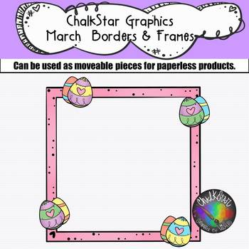 Chalkstar Graphics- March Borders