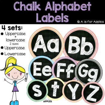 Chalky Alphabet Labels