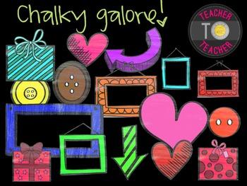 Chalky Theme Galore! {TeacherToTeacher Clipart}