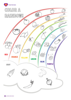 Rainbow Color Sheet Worksheets Teaching Resources Tpt