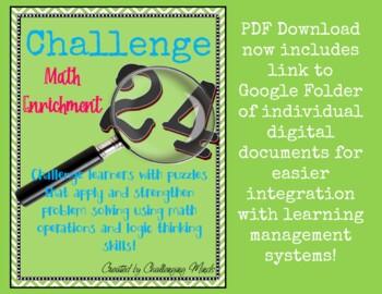 Challenge 24 Math Puzzles