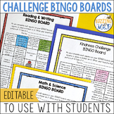 Challenge BINGO Boards for Students - Distance Learning