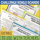 Challenge BINGO Boards for Teachers - Distance Learning