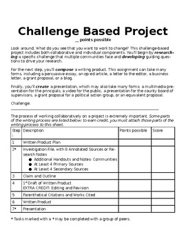 Challenge Based Project for High School Students